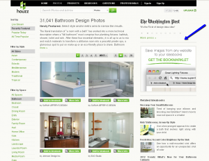 Recently Featured Bathrooms and the Bookmarklet ad on Houzz