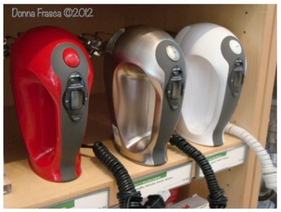 Three Mixers Red Stainless and White Donna Frasca