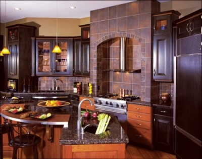 Upscale Kitchen Cocoa and Bronze via Statewide Remodeling