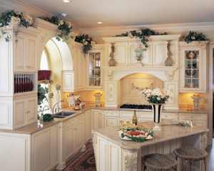 Upscale Kitchen White and Cream :: source Statewide Remodeling