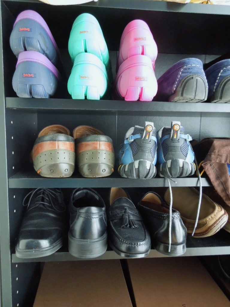 Shoe Organizer with Colorful Shoes