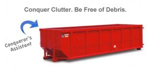 Clutter Buster Roll Away Dumpster image via HomeTown