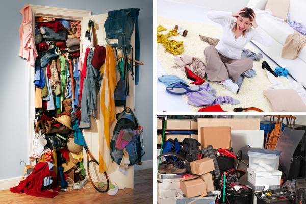 Top Tips for Decluttering :: cluttered home collage via Joe Eitel