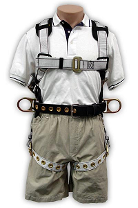 Full Body Harness :: Removable Belt Rated to 400lbs