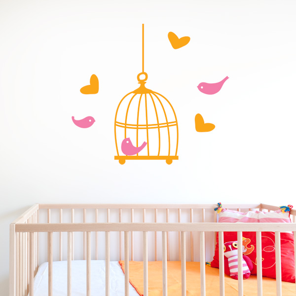Birdcage Kids Wall Decal