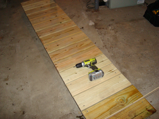 Secured decking boards