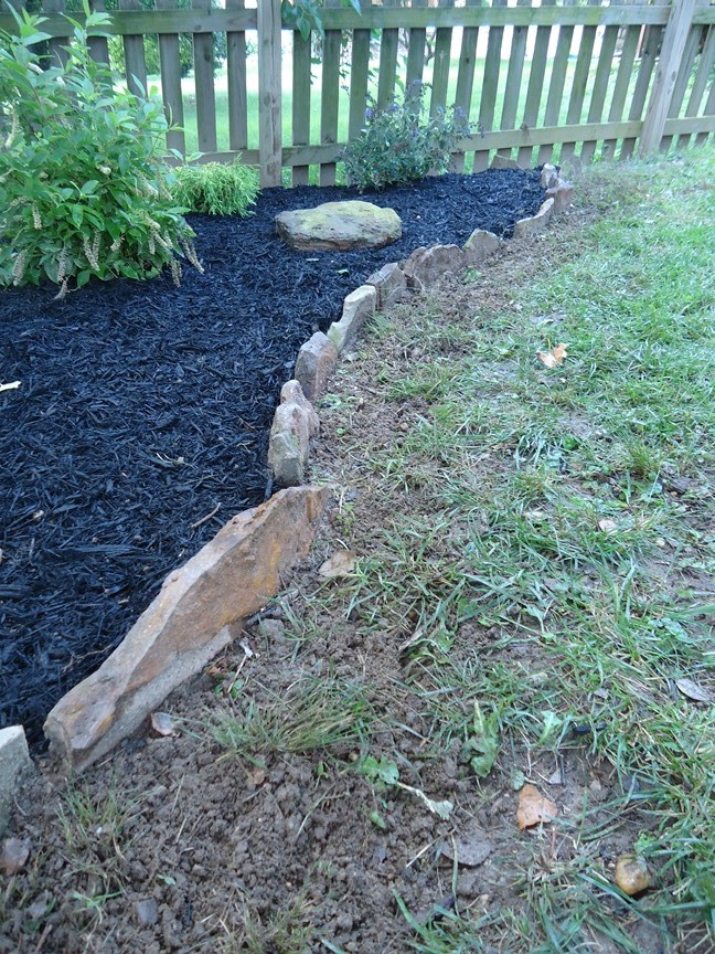 Stone Border Edging For Gardens Stone border edging for a garden patching with 1 step complete cultivated turf stone border edging workwithnaturefo