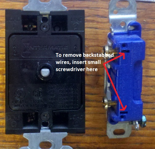 electrical switch rear diagram