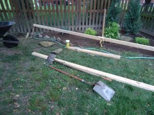 Finding Level Running a 2x4 & String Garden Bed