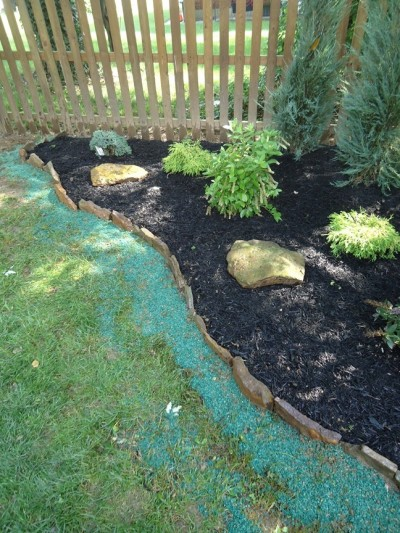 Stone Border Edging Installed 1 Step Complete Installed