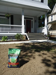 Pennington Seed Smart Seed Sitting on a Prepped Lawn