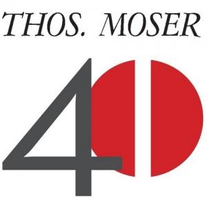 Thos. Moser 40th Anniversary Logo