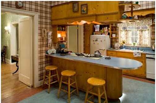 1960s Wood and Patterned Kitchen