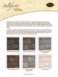 Bellaforte Shake Color Sheet from Davinci