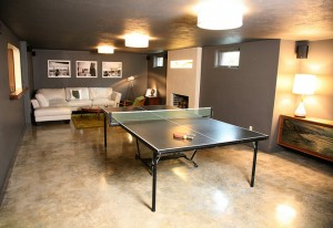 Concrete Flooring Ping Pong Table Room