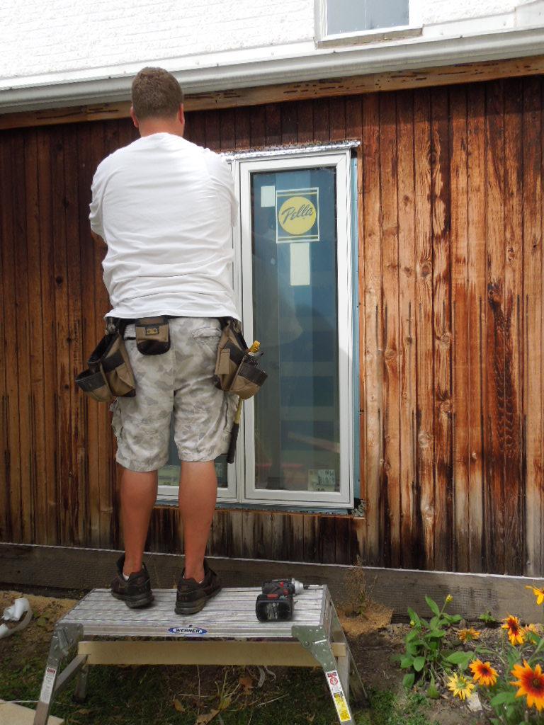 New Pella Window Being Installed