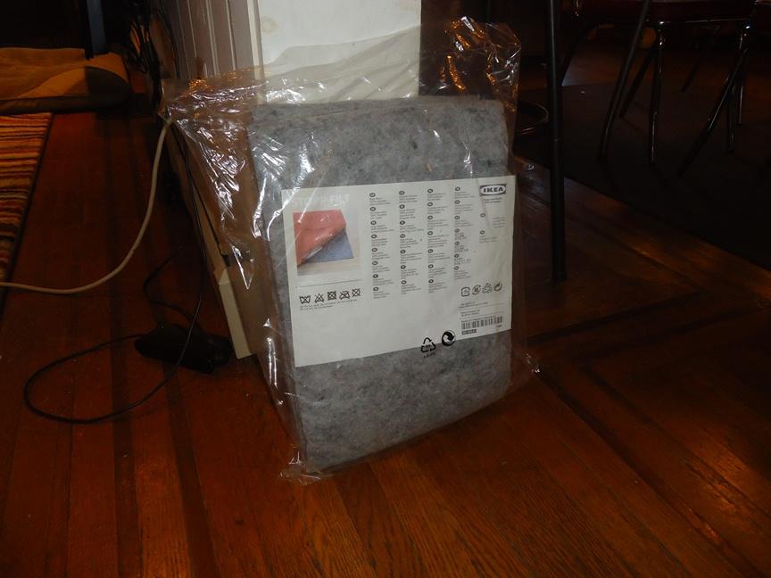 Fall DIY :: Ikea Stopp Filt Rug Underlayment