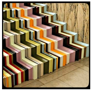 Crown Molding Ideas :: Multi Colored Crown Molding Stairs