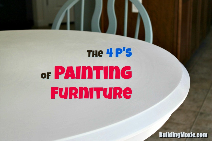 Kitchen Table Close Up The Four P's Of Refinishing Furniture With Paint  How To Paint A