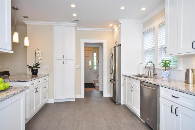 Light And White Contemporary Kitchen Quality Cabinets Symmetry