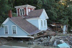 2nd story of victorian home destroyed by act of god