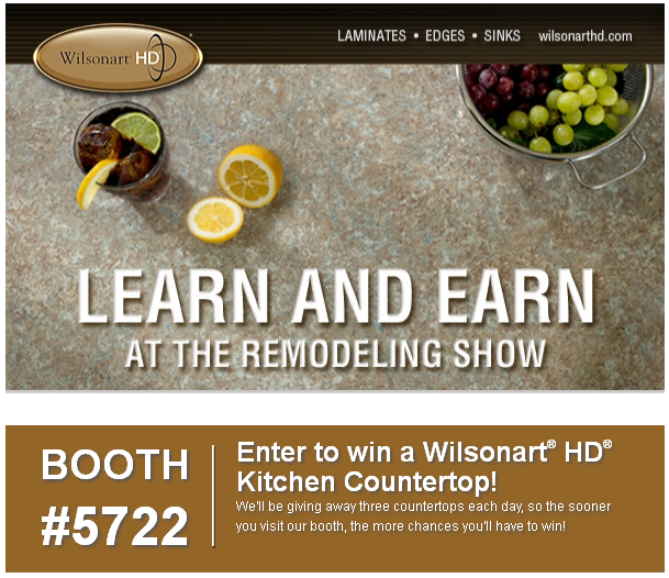 Learn and Earn at the Remodeling Show with Wilsonart