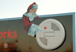 Fire Prevention :: Sound the Alarm: Santa & a Smoke Detector