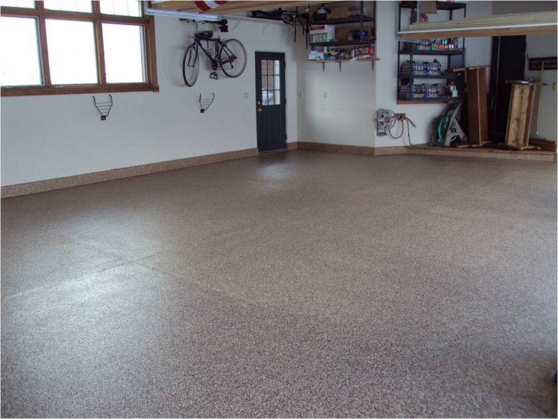 Garage Floor Coating Options Full Broadcast Color Chips Uv Le Polyurethane Clear Coat