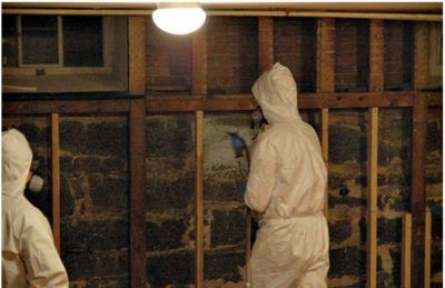 spray foam installation basement walls