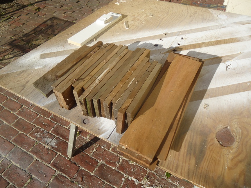 These Cedar Shakes and Scrap Cedar to become a Birdhouse