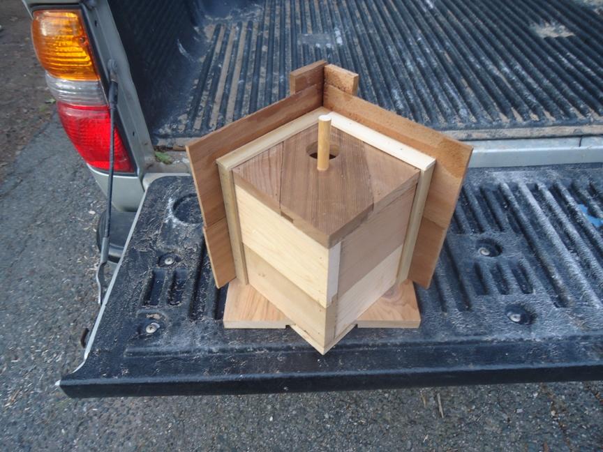 cedar birdhouse by Building Moxie