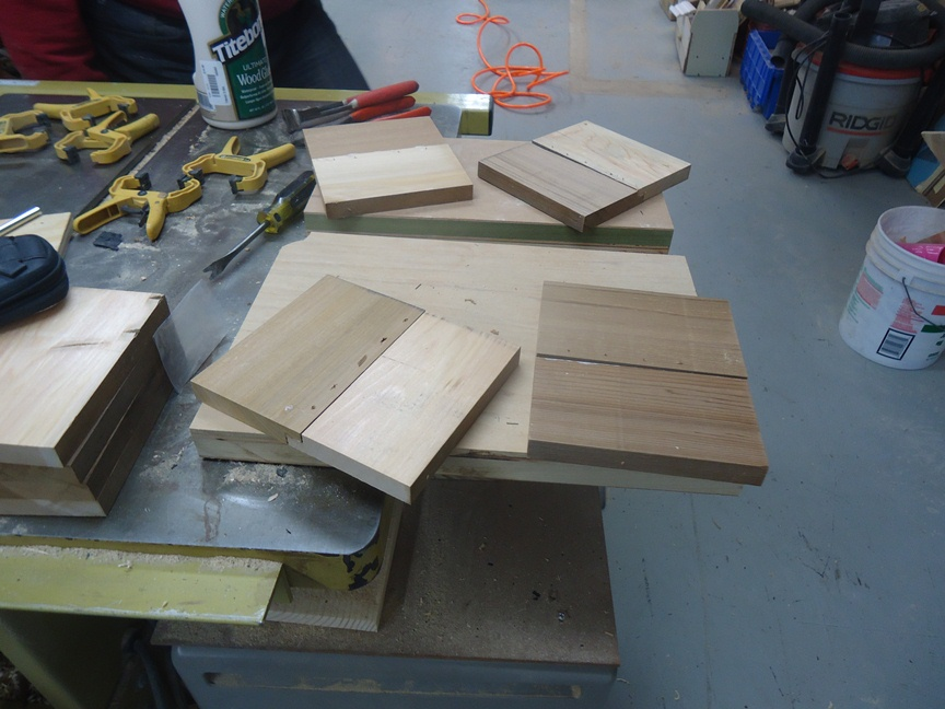 glued pin nailed notched boards