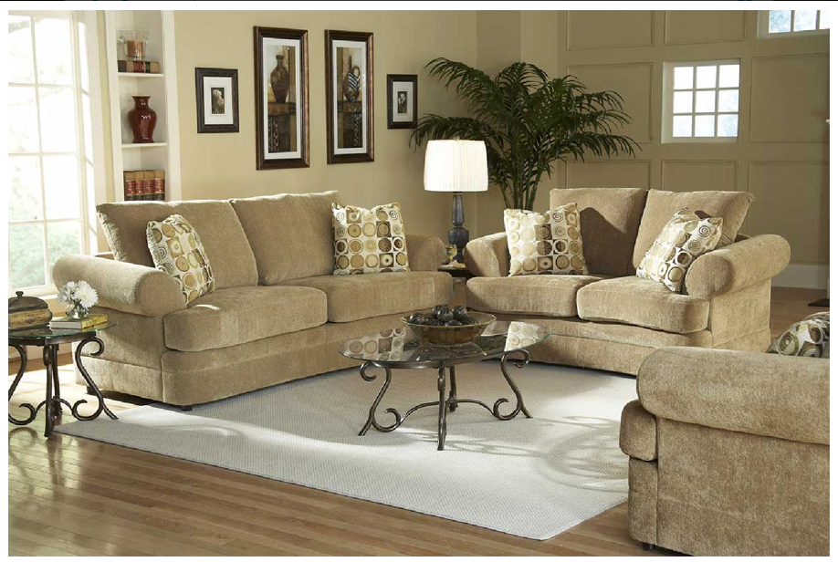 Simple Traditional Living Room Set Via Signature Furniture Rental