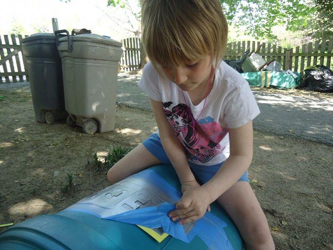 Eva Peeling Tape Back