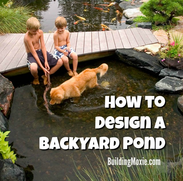 Tips for designing a backyard pond building moxie for How to design a pond