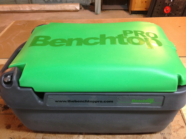 BenchTop Pro Packed for Transport on Side
