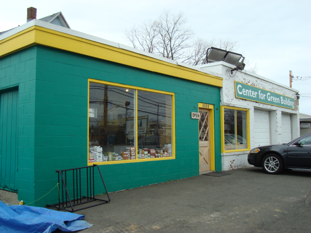 The Center for Green Building store front.