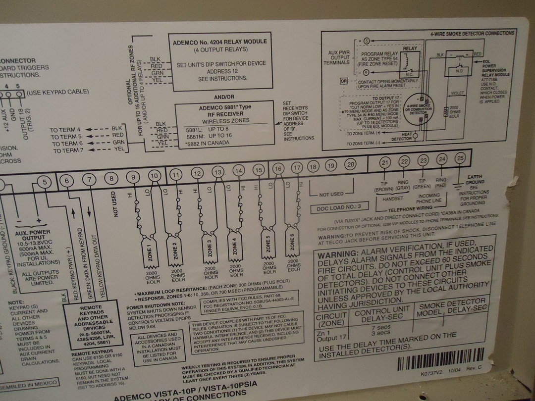 Troubleshooting A Hard Wired Security System Building Moxie Home Alarm Wiring Diagram View Schematic