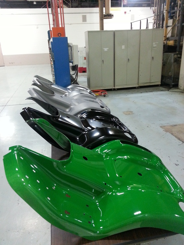 John Deere 4 stage powder coat process