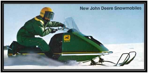 John Deere Snow Mobiles