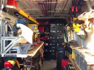 pro contractor's organized van