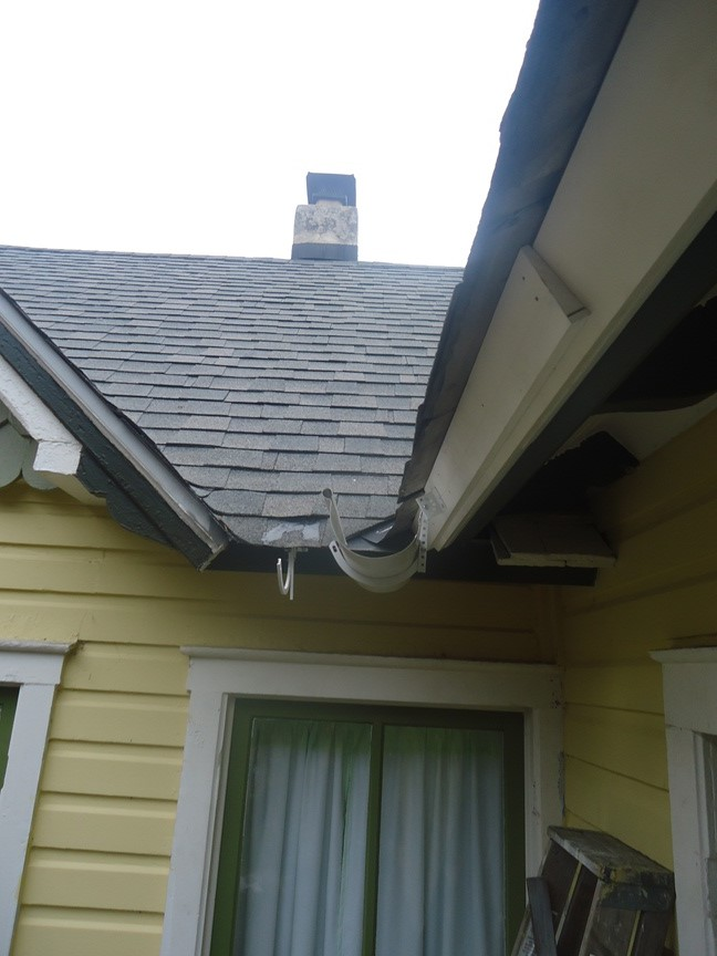 Installing Half Round Gutters :: trim build up at fascia board