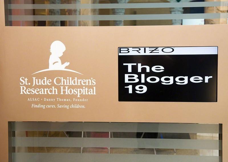 StJude Brizo Blogger 19 signage