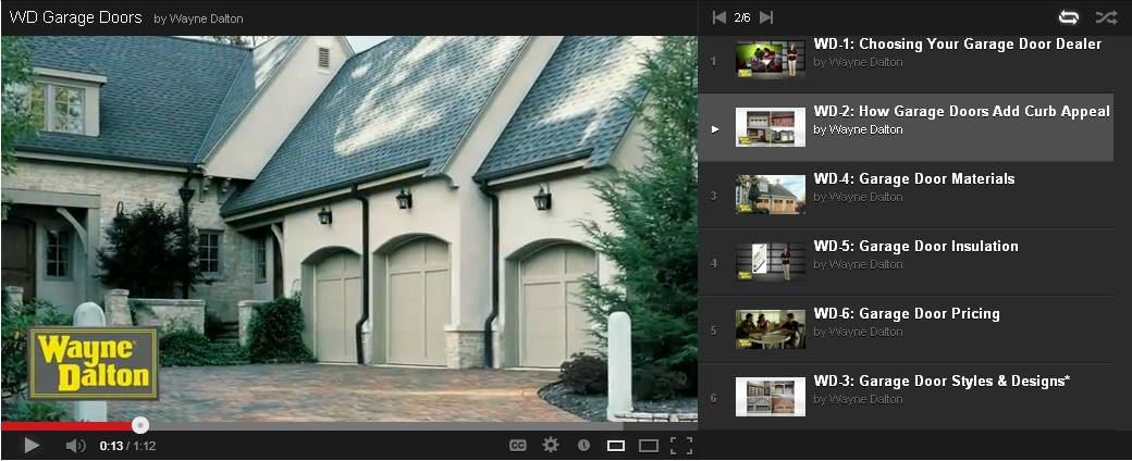 Wayne Daylon Web Video Screen Shot :: Choosing A New Garage Door
