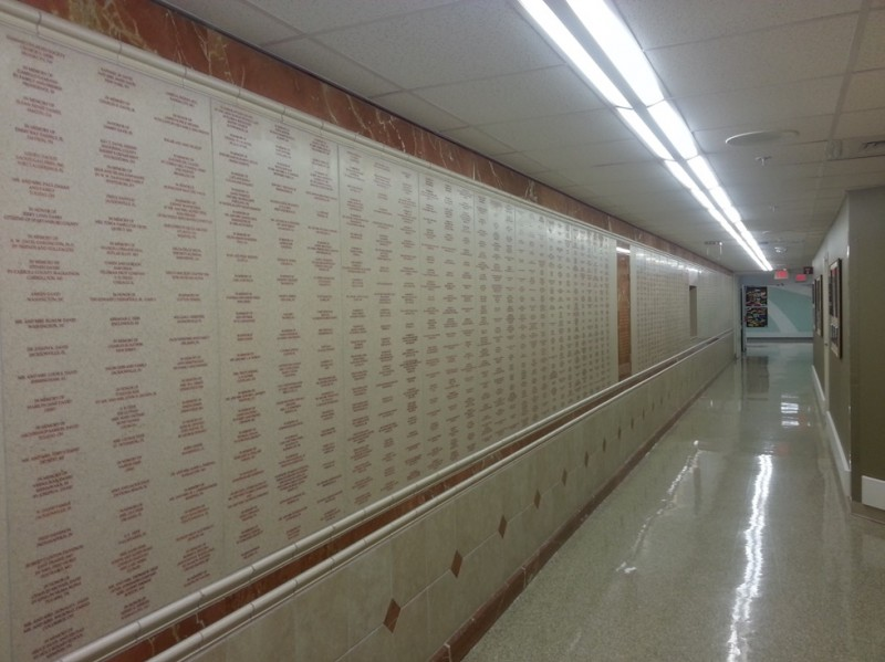 donors wall St Jude Children's Research Hospital