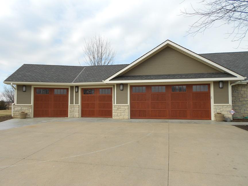 metal paneled garage door before