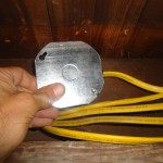 5a. Install Cover on Junction Box Insert Slotted Opening First