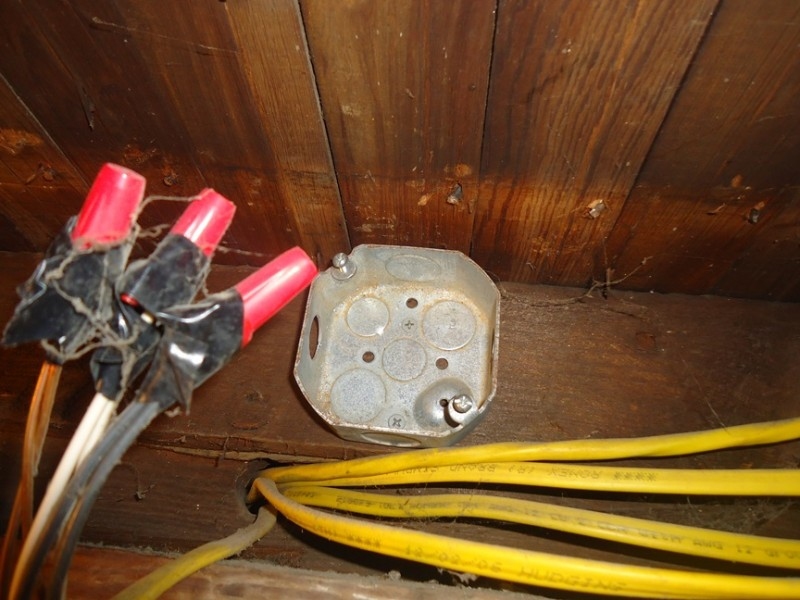 Installing a Junction Box :: Mounting Metal Box