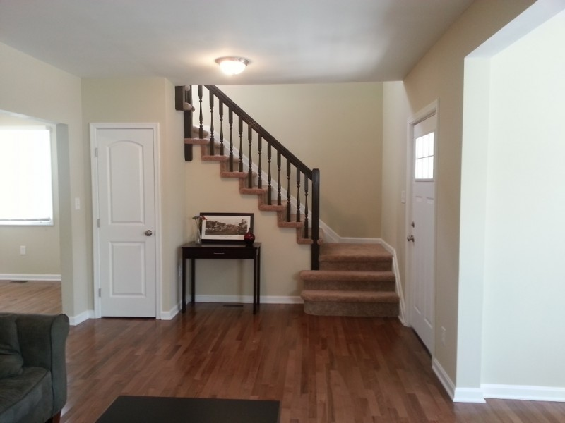 living room to upstairs after