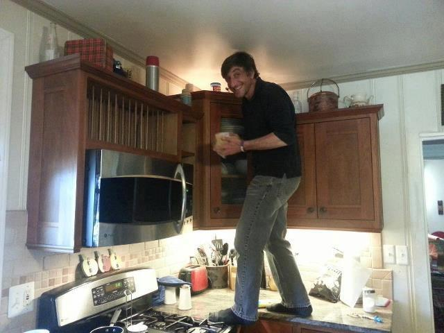 standing on a kitchen counter